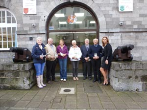 The launch of the Town Trail with members of Pembs County Council, Town Council and Civic Trust